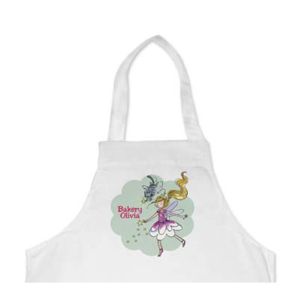 leuk kinderschort met naam en tovermeisje - cool apron with girl and name of the kid
