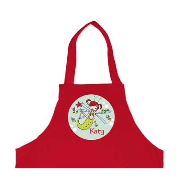 leuk kinderschort met naam en zeeelf - cool apron with murmaid and name of the kid