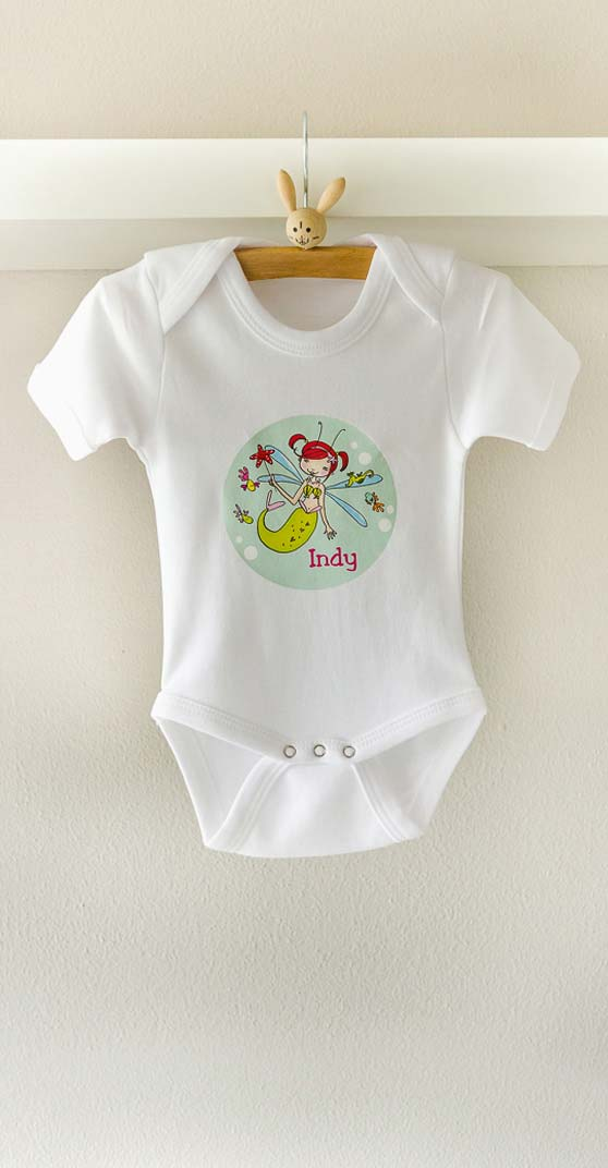 baby body suit with name babyshower gift personalised studio kids design
